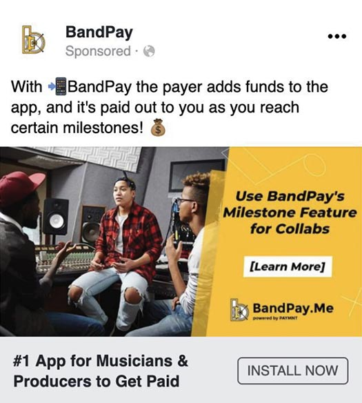 BadPay online ad
